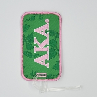 Alpha Kappa Alpha Embroidered Luggage Tag with Letters